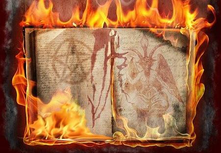 Alchemy book burning