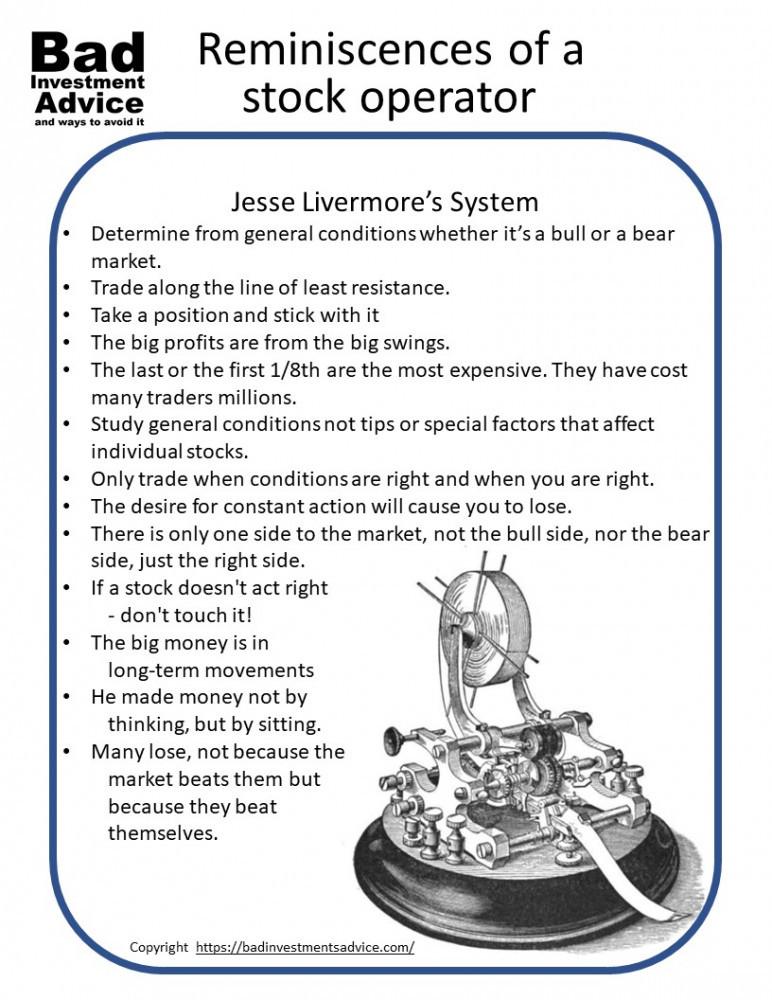 Reminiscences of a stock operator summary