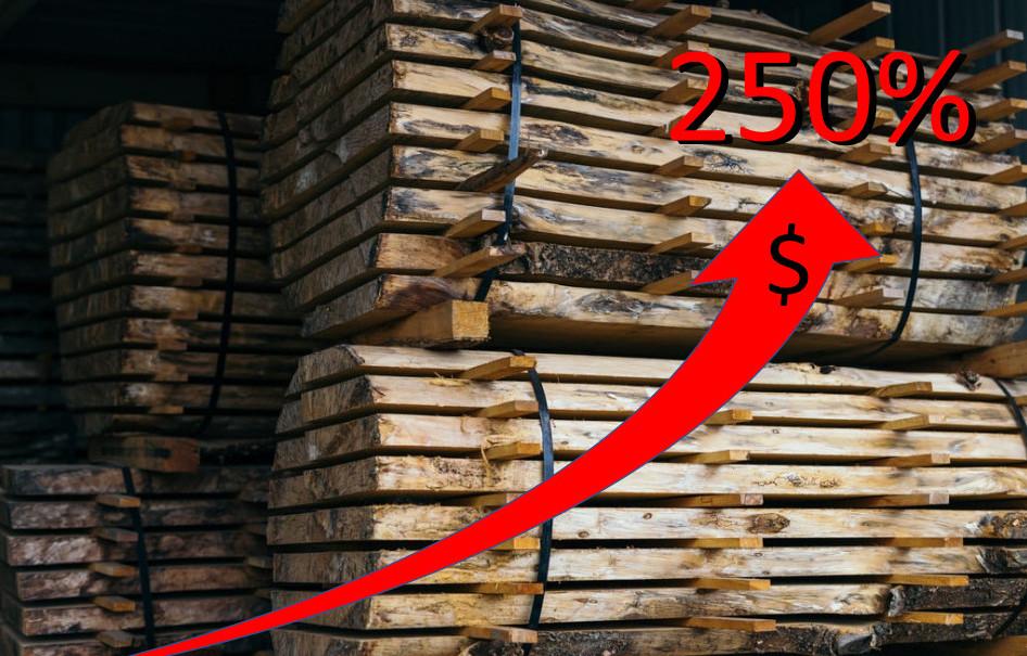 Lumber prices April 2020 to April 2021