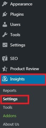 Insight Settings