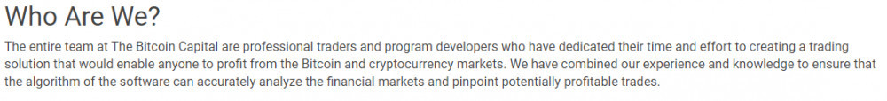 About Us page The Bitcoin Capital