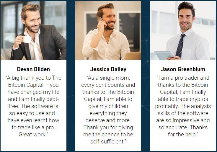 fake testimonials The Bitcoin Capital