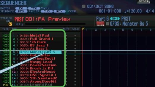 The Roland FA-08 Sequencer