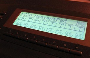 The sequencer is programmed using the LCD display panel
