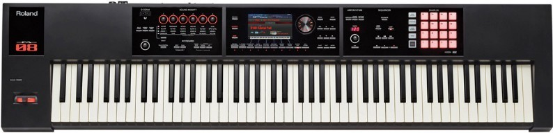 Here is a picture of my Roland FA-08 Master Workstation.