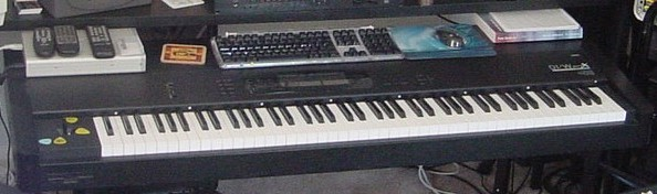 Picture of Here is my Korg 01/W ProX from my studio in the 90s-000s.