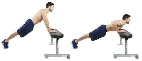 Incline push-ups