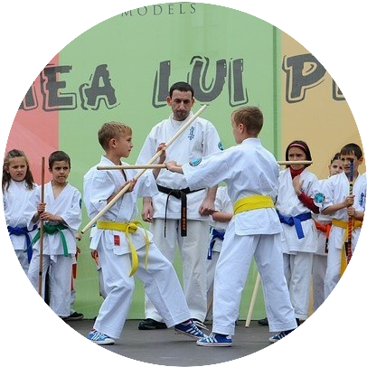 Kids doing martial arts class, one of the strategies used to foster self-regulation in kids.