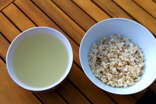 Ferment Brown Rice - Healthy Fermented Brown Rice and Water Photo
