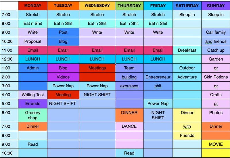 Personal schedule to effective lifestyle