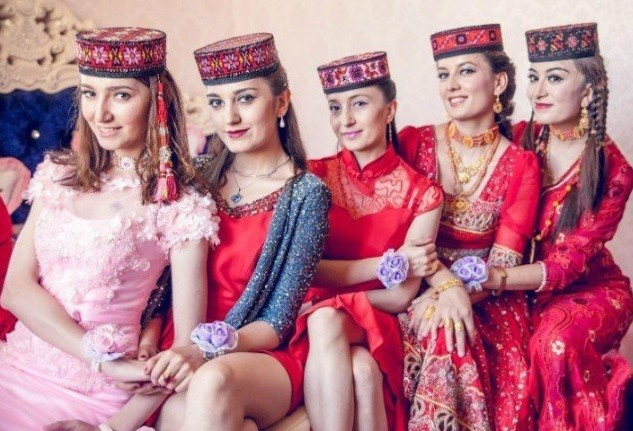 Uighurs are similar to Kazakhs and Uzbeks.