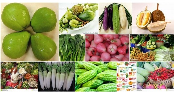 Asia's healthy fruit and veg collection