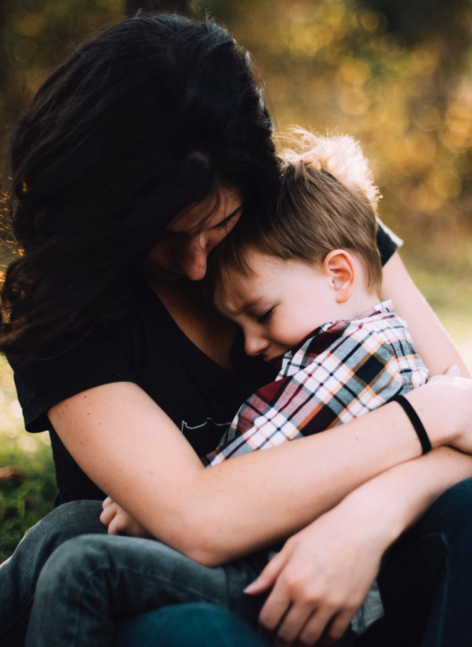 11 Benefits of Being a Stay At Home Mom - Mom hugging son