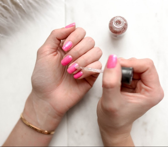 How to Save Money as a Stay At Home Mom - Woman Giving Herself a Manicure