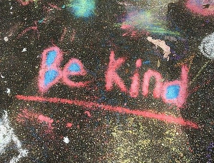 How to Fall in Love With Yourself - Chalk Art with Be Kind Message