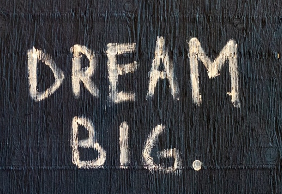 Benefits of Believing in Yourself - Dream Big Chalk Message