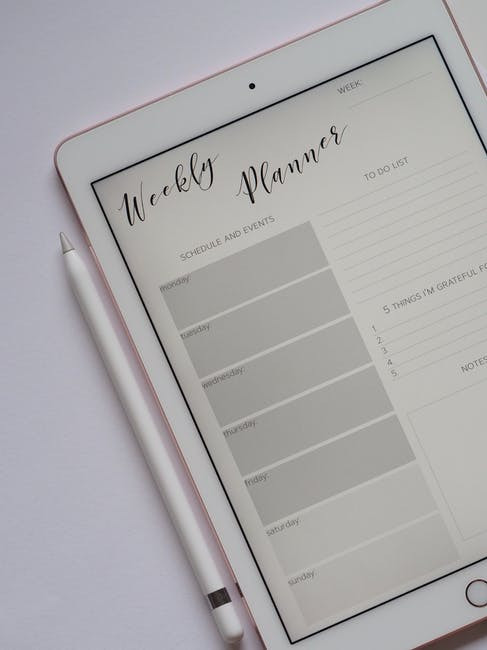 How to Deal with Stay-At-Home Mom Depression - Weekly Planner