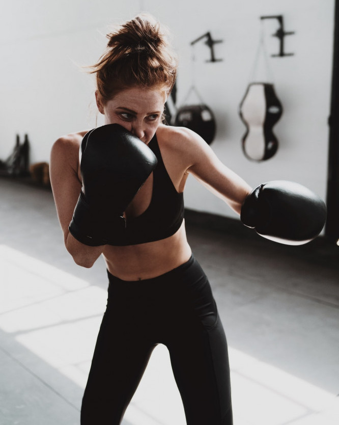 How to Keep Motivated Even on Your Worst Days - Woman Boxing