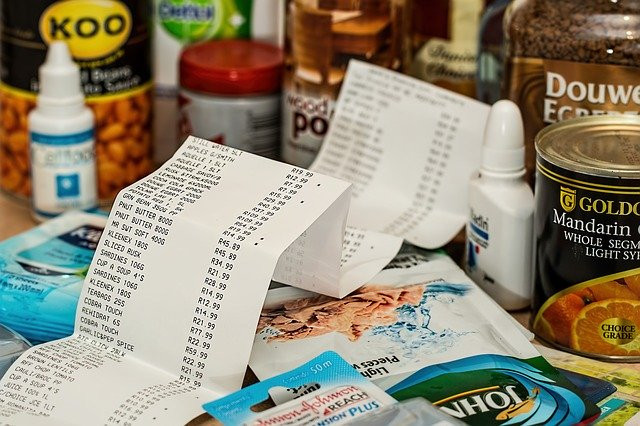 How to Save Money as a Stay At Home Mom - Grocery Receipt and Food