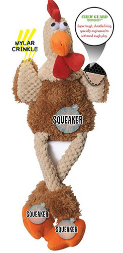 goDog chew guard toy - rooster