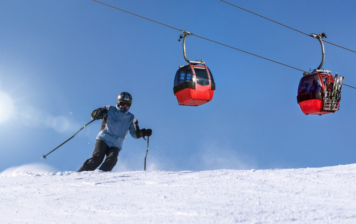 is downhill skiing fun - skier
