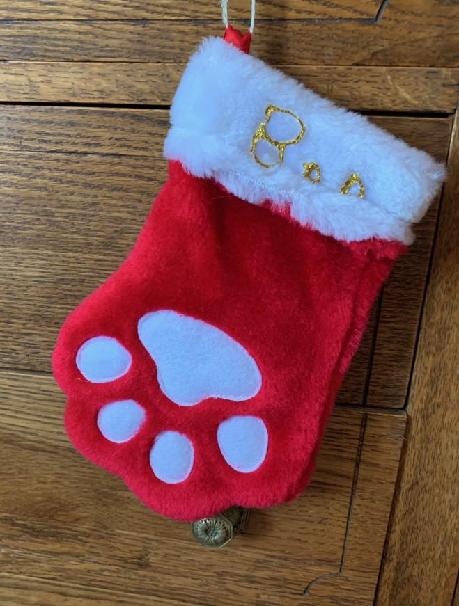 doggie xmas stockings - boo