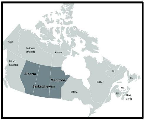 what's a prairie girl - map