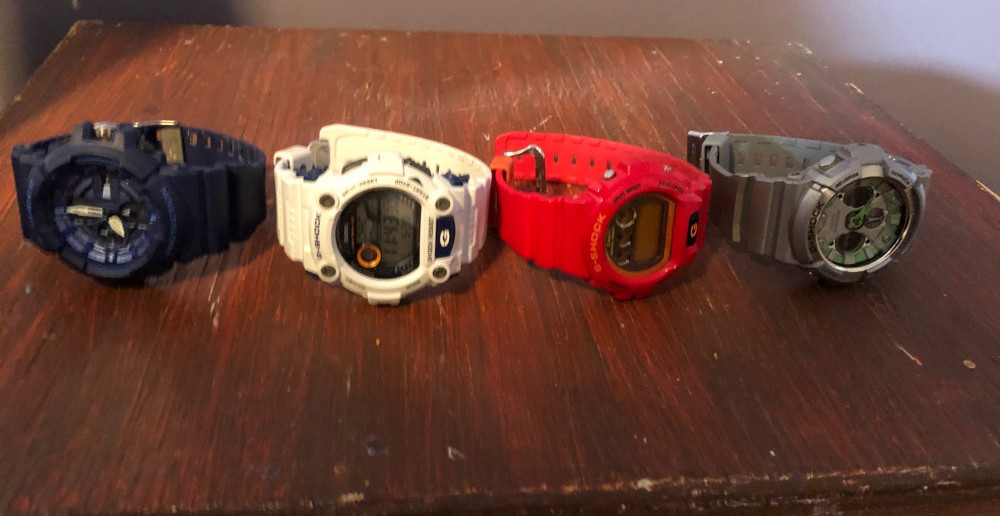 My G shock watches