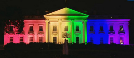 rainbow flag color meanings - white house