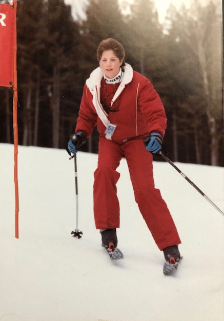 is downhill skiing fun - young coralie skiing