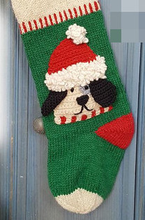 doggie xmas stocking - knit stocking