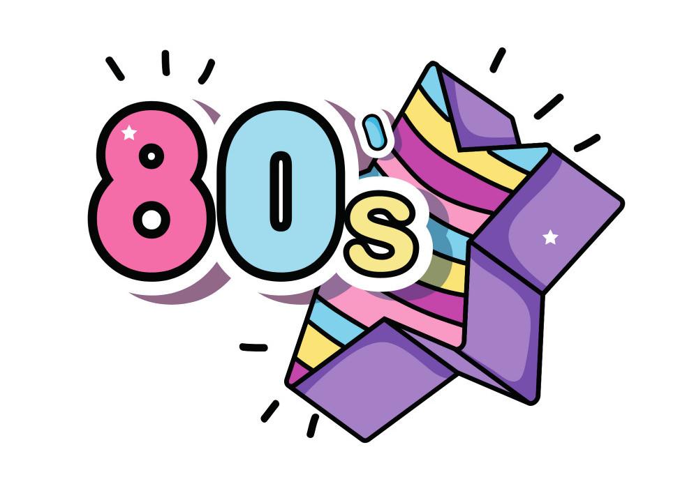 classic 80s fashion logo