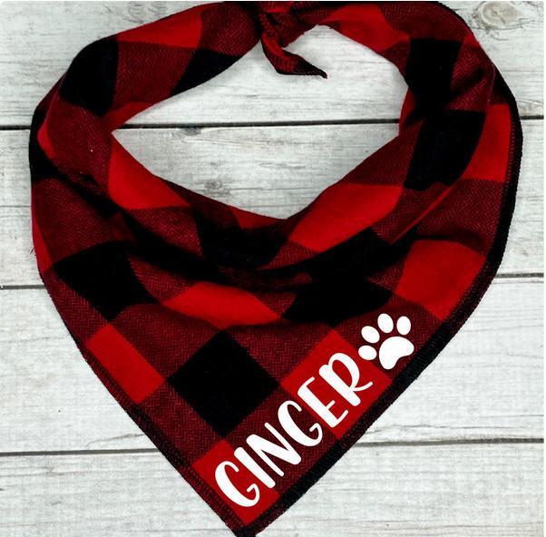 great dog christmas gifts - plaid bandana