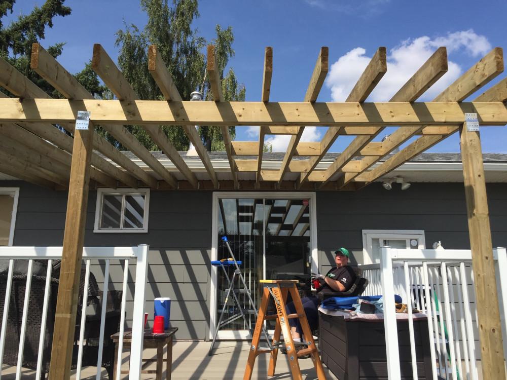 One handy girl deck roof