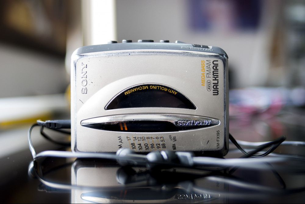 80s music girl walkman