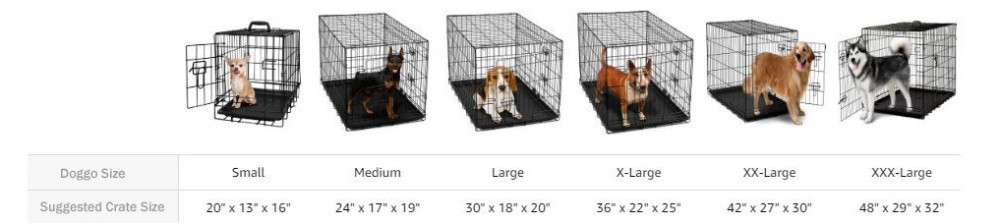 how big should my dog crate be - dog crate sizes