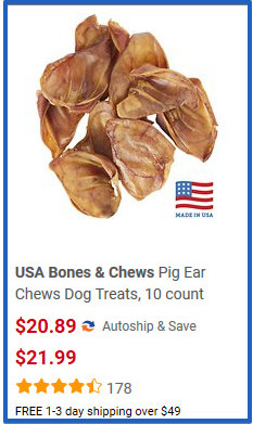 buy pigs ear - are pigs ears ok for dogs