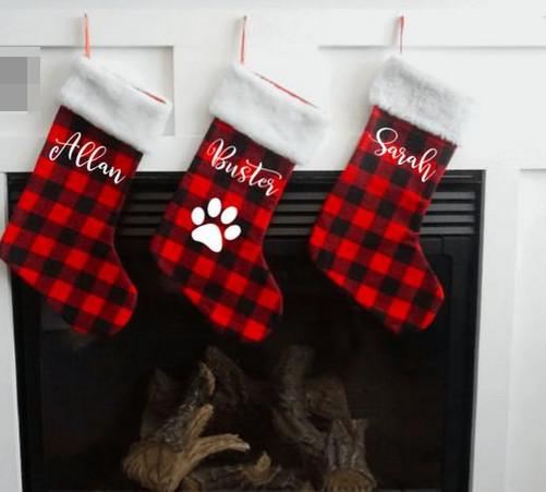 doggie xmas stocking - mantel