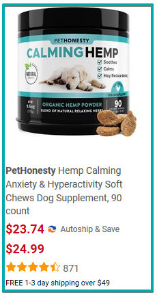 Hemp calming anxiety for dogs