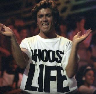 classic 80s fashion - choose life tee