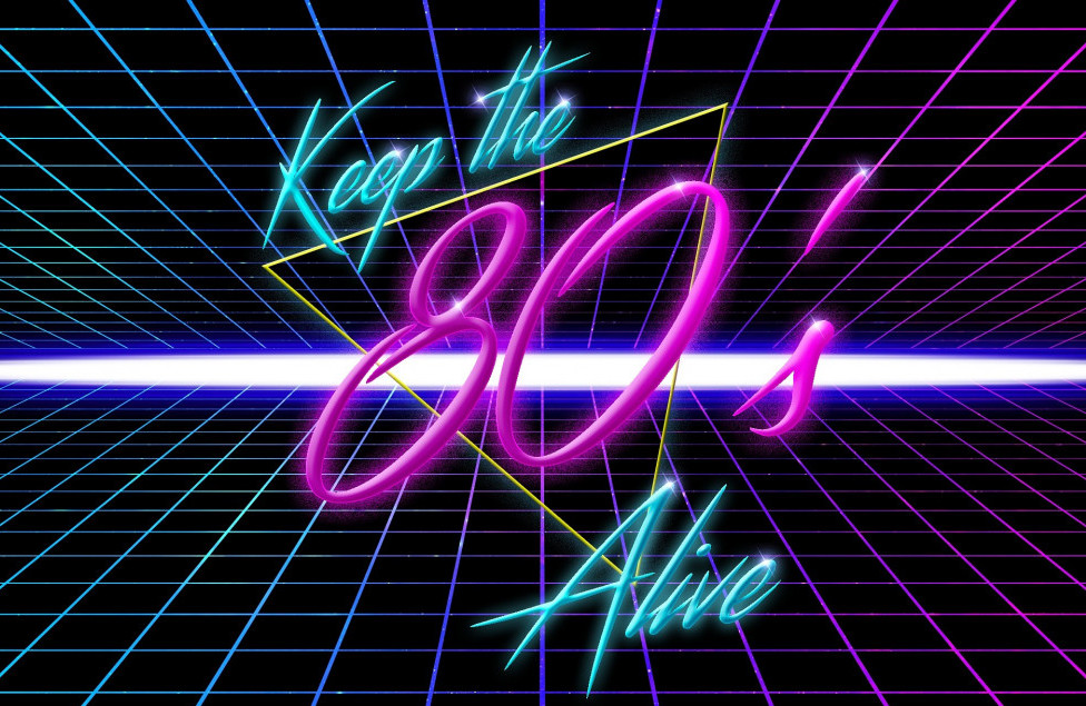 80s music girl keep the 80s alive
