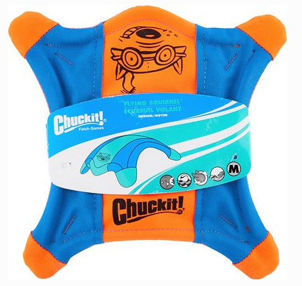 chuckit flying squirrel best soft dog frisbee