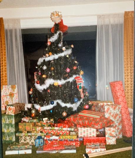 holiday time and family - xmas tree