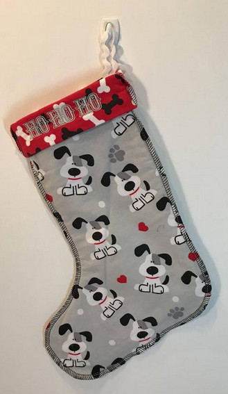 doggie xmas stocking - pattern