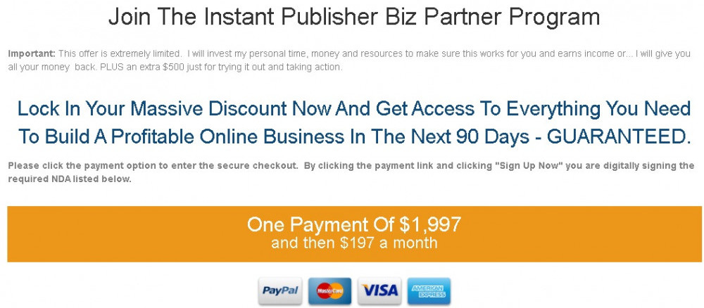Instant Publisher Biz Partner Program review