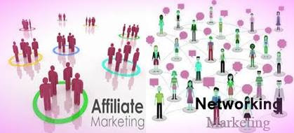 What is the difference between network marketing and affiliate marketing