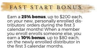 Young Living fast start bonus