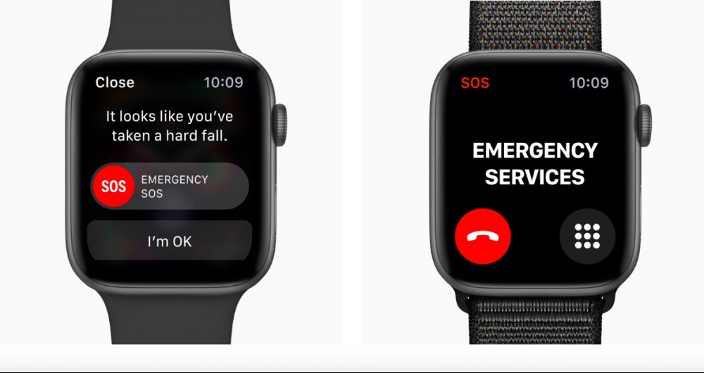 emergency call when you drop