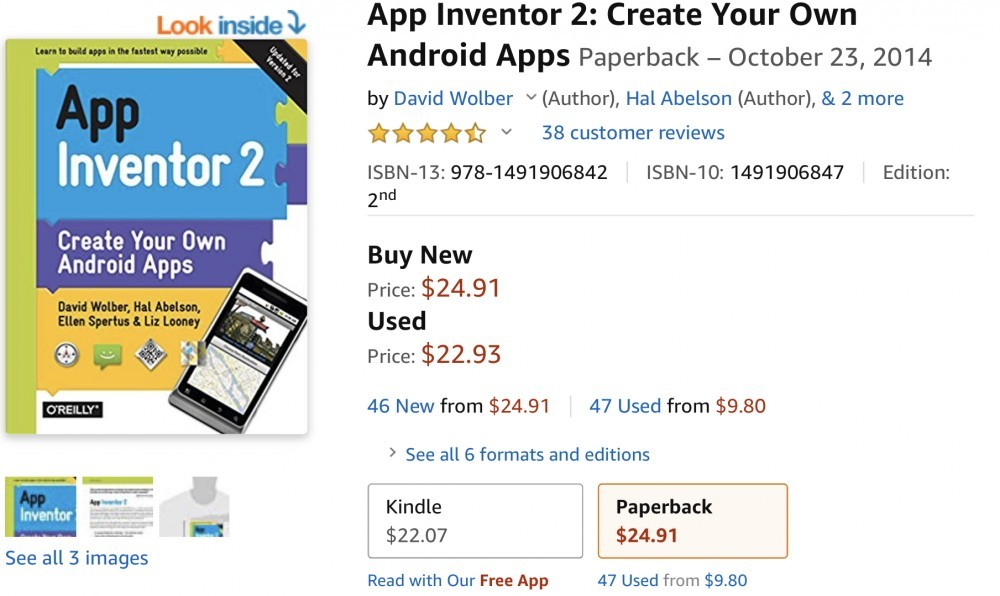 My App Inventor 2 Book – Build Your Own App | Get paid to test apps