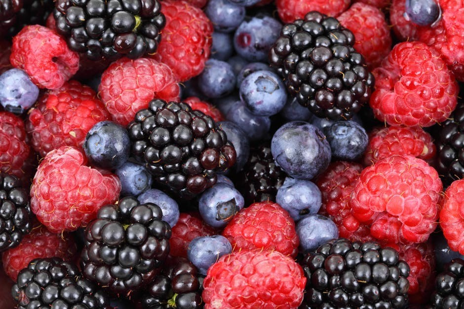 Mixed berries and fruits